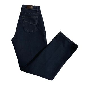 LEE Relaxed Fit Dark Straight Leg Jeans!